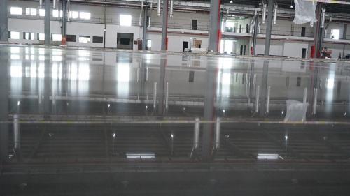 容达地坪打造大铁数控车间PAP固化地坪项目